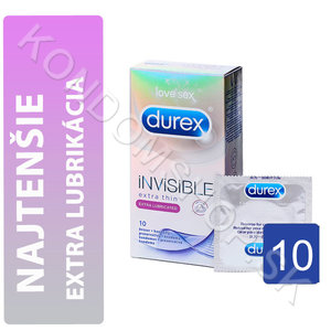 Durex Invisible Extra Lubricated krabička SK distribuce