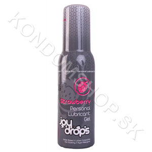 Joydrops Strawberry Lubrikační gel 100ml
