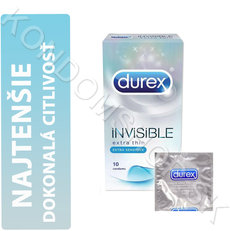 Durex Invisible Extra Sensitive krabička CZ distribuce
