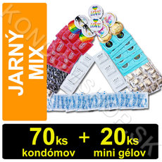 Mix na jarní sex 70 kondómů + 20 mini gelů