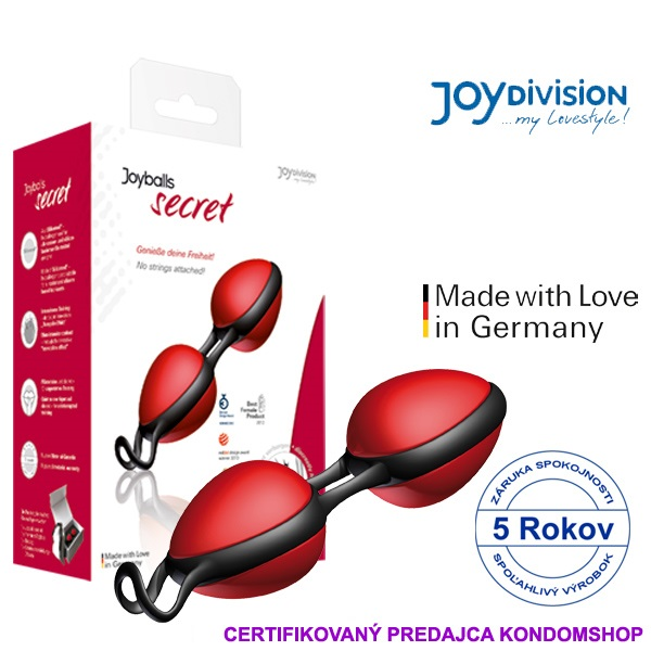 Joydivision Joyballs secret new r.2018 Červená