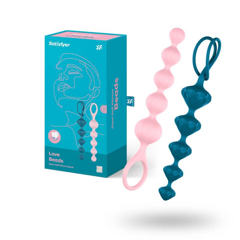 Satisfyer Love Beads anální kuličky set Colored