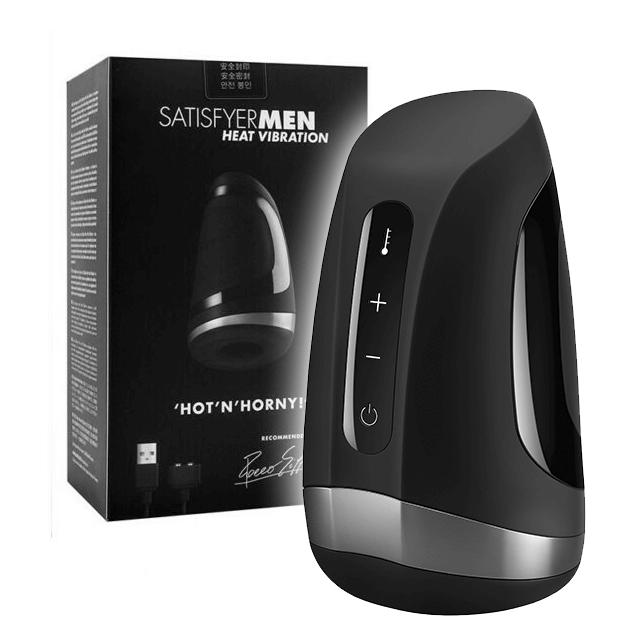 Satisfyer Men Heat Vibration pánsky masturbátor se zahříváním