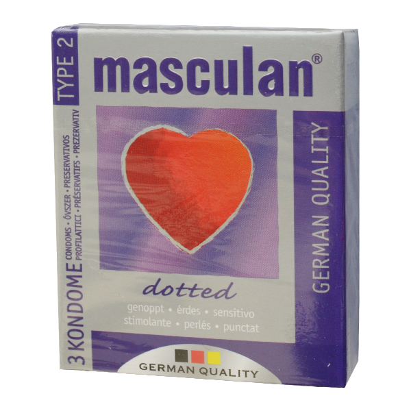 Masculan Dotted krabička 3 ks