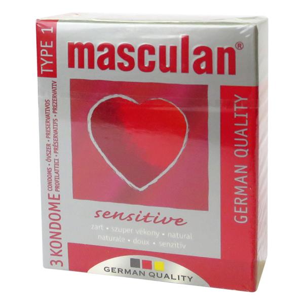 Masculan Sensitive krabička 3 ks