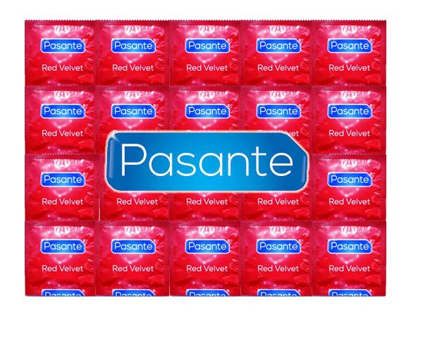Levně Pasante Red Velvet 144 ks