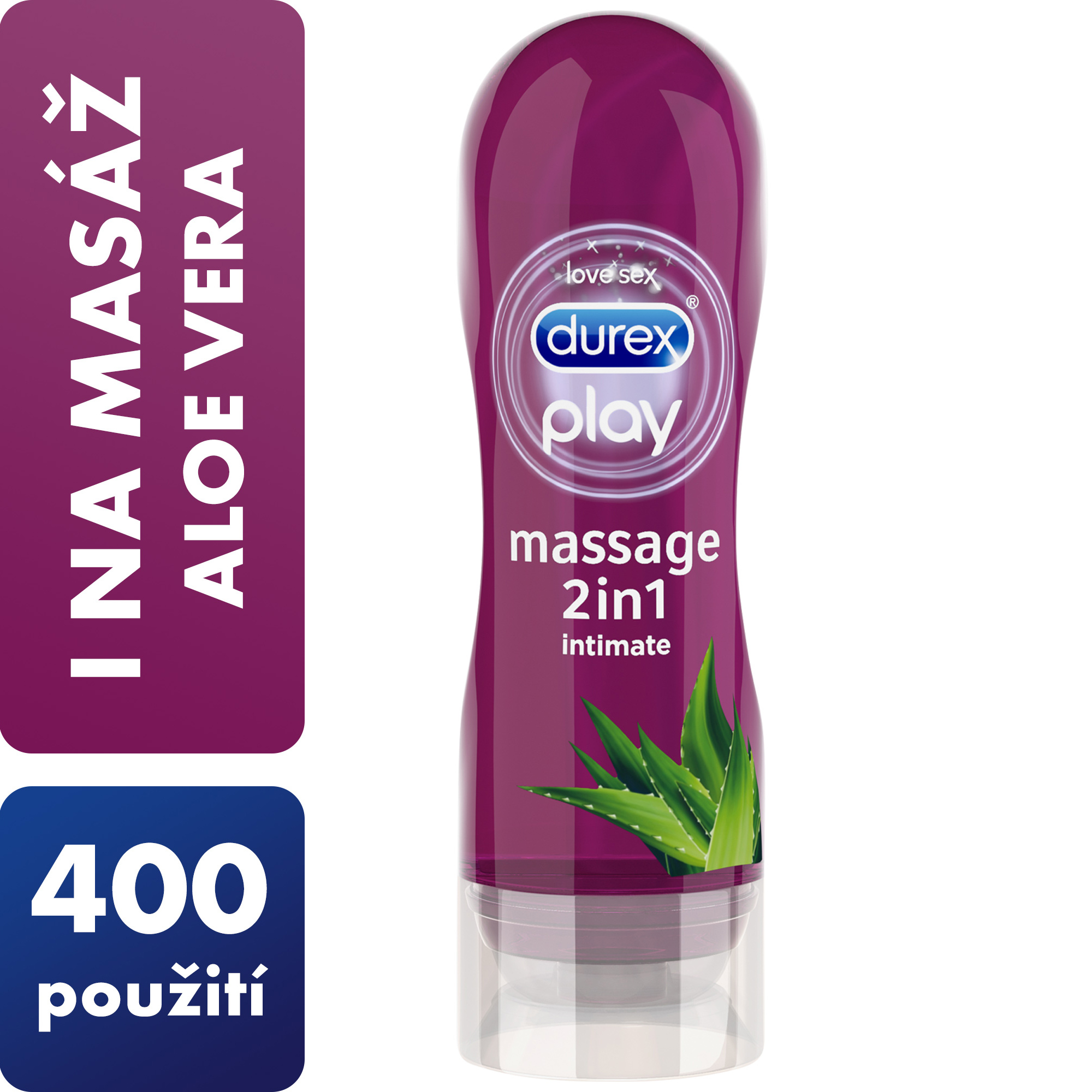 Durex Massage 2 v 1 Aloe Vera 200 ml